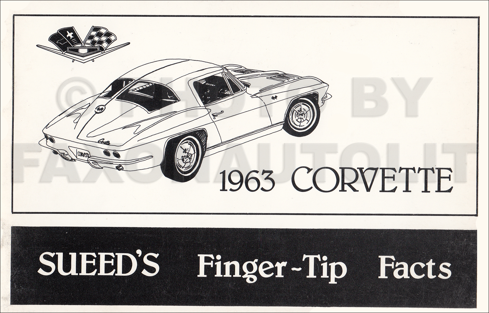 1963 Chevrolet Corvette Finger Tip Facts Book Reprint