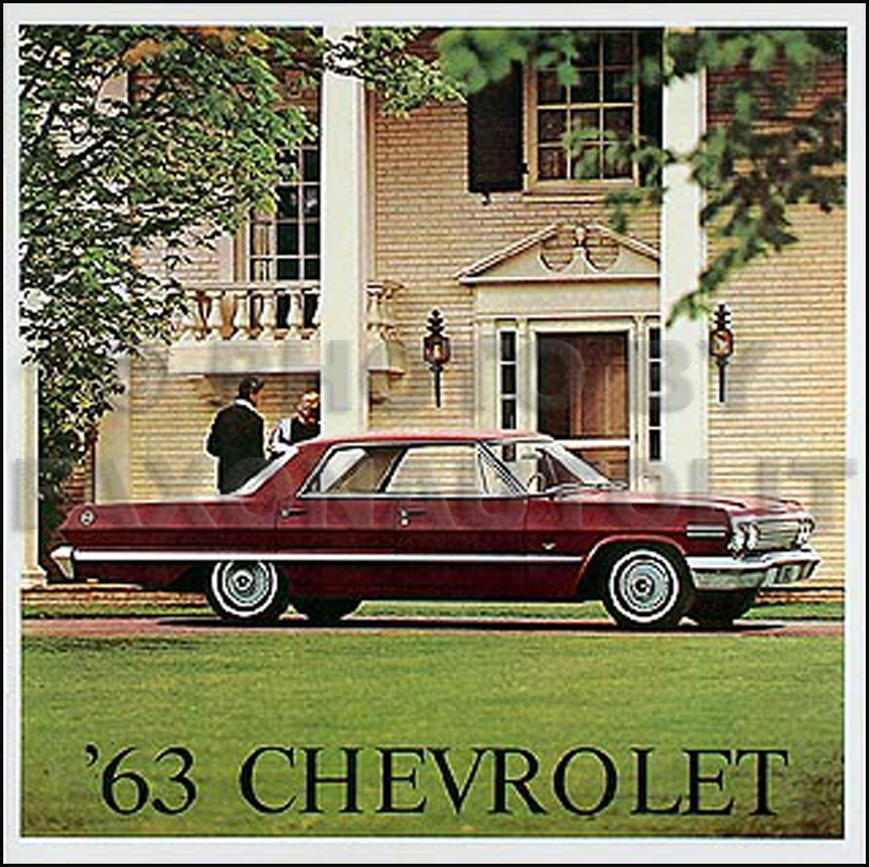 1963 Chevy Wiring Diagram Manual Reprint Impala, SS Bel ...