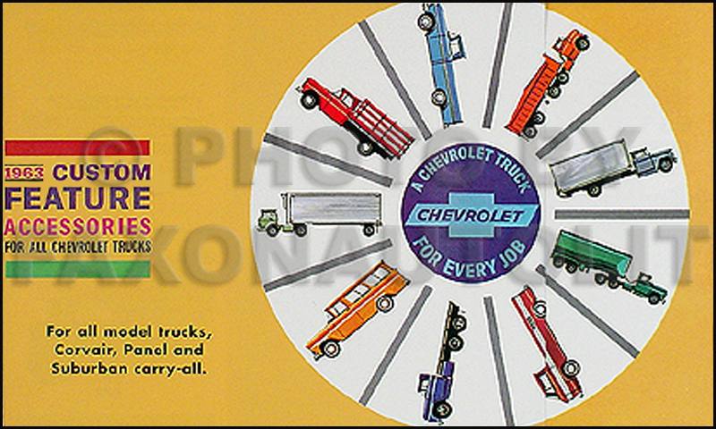 1963 Chevrolet Van, Pickup & Truck Reprint Accessory Catalog Set