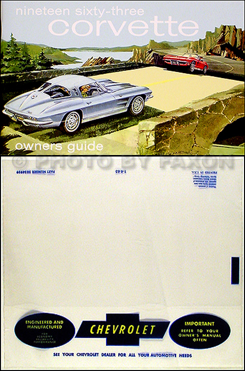 1963 Corvette Reprint Owner's Manual Package