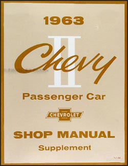 1963 Chevy II & Nova Shop Manual Reprint Supplement