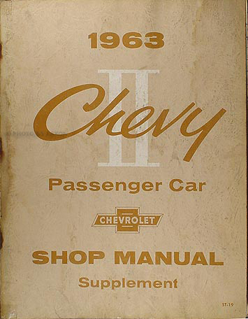 1963 Chevy II & Nova Shop Manual Original Supplement