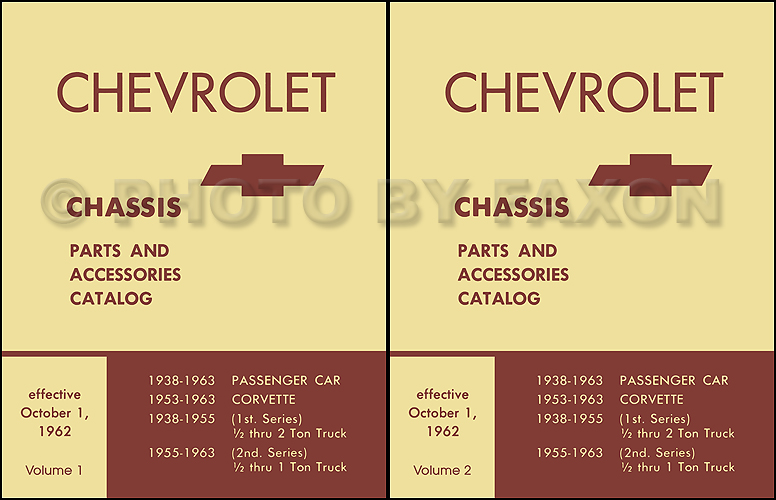1957-1963 Chevrolet Mechanical Parts Catalog Reprint