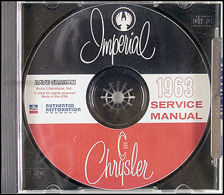 1963 Chrysler Shop Manual on CD for Imperial Newport 300 New Yorker