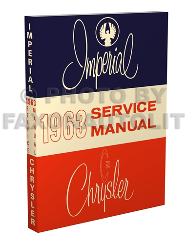 1963 Chrysler and Imperial Shop Manual Reprint