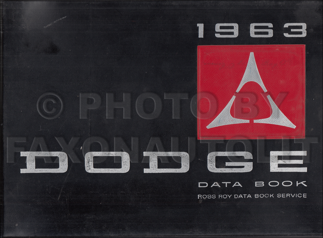 1963 Dodge Data Book and Color & Upholstery Album Original