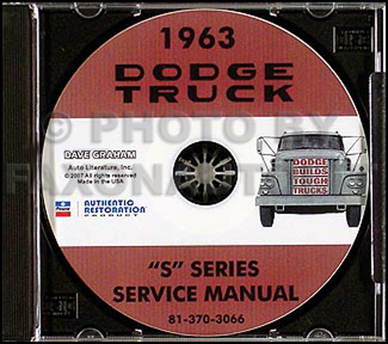 1963 Dodge Truck CD-ROM Shop Manual