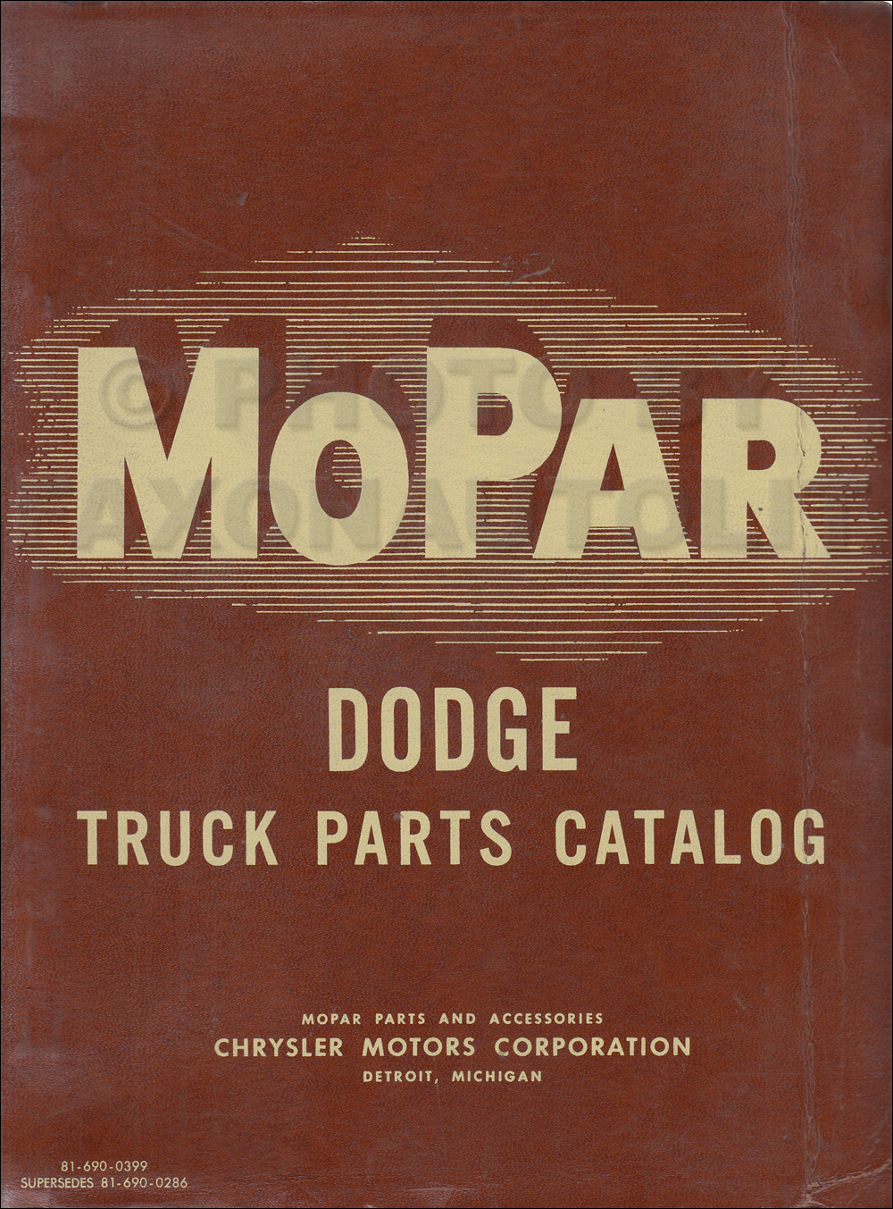 1963 Dodge Pickup and Truck Parts Book Original