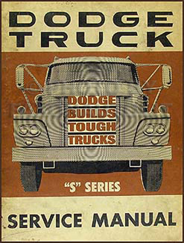 1963 Dodge Truck Shop Manual Original