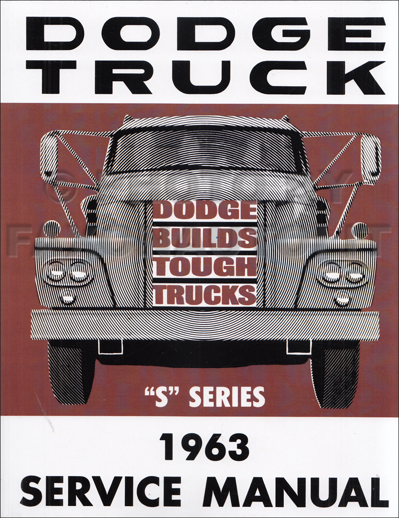 1963 Dodge Truck Repair Shop Manual Original