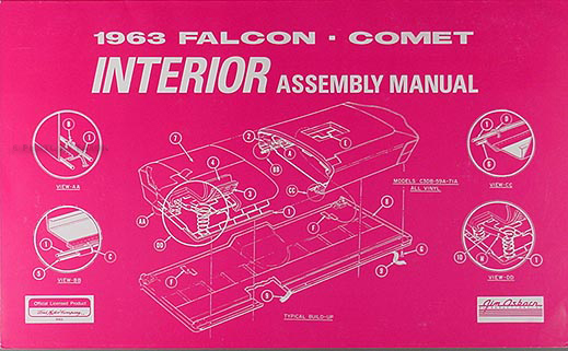 1963 Falcon, Sprint, Ranchero & Comet Interior Assembly Manual Reprint