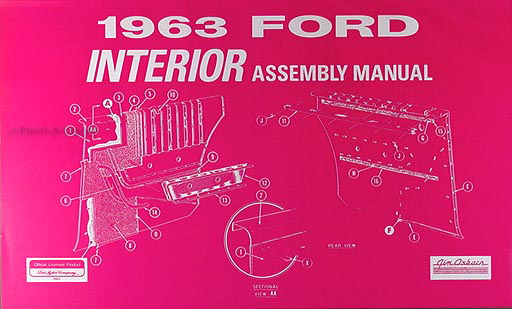 1963 Ford Galaxie & 500 Interior Assembly Manual Reprint