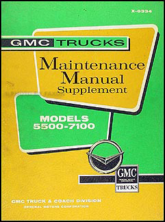 1963 GMC 5500-7100 Shop Manual Original Supplement