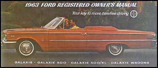 1963 Ford Galaxie Owner's Manual Reprint