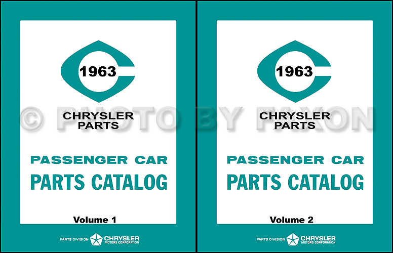 1963 Chrysler, Plymouth, Dodge Car Parts Book Reprint
