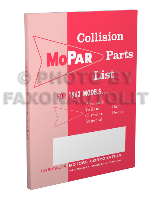 1963 MoPar Body Collision Parts Book Reprint