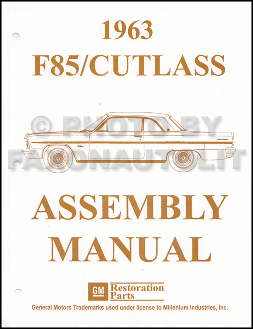 1963 Olds F-85 and Cutlass Assembly Manual Reprint