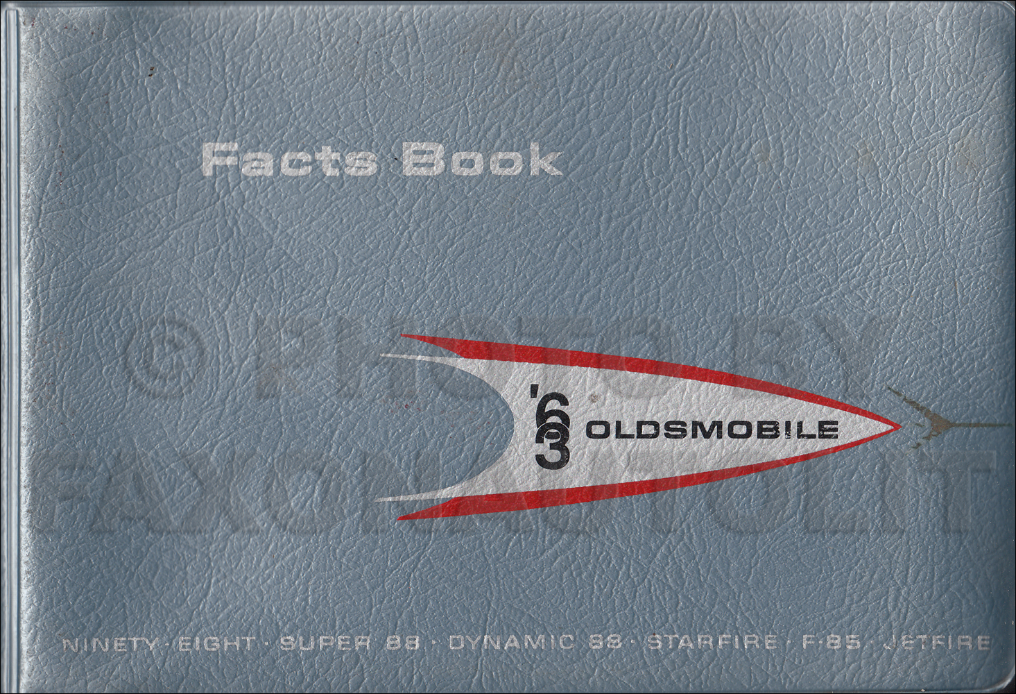 1963 Oldsmobile Facts Book Original