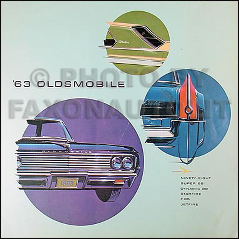 1963 Oldsmobile Sales Folder Original--All Models