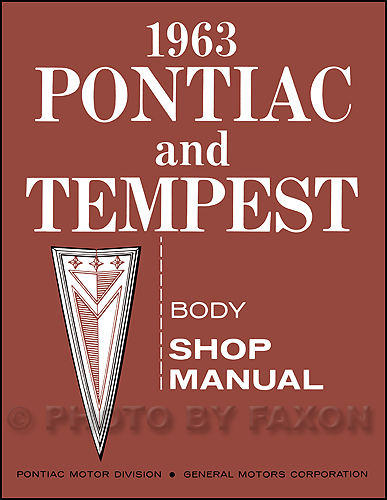 1963 Pontiac & Tempest Body Manual Reprint