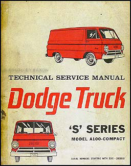1964-1965 Dodge A-100, Compact, Van & Sportsman Repair Manual Original