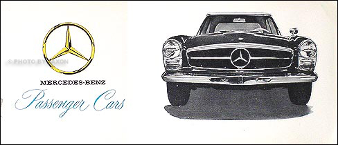 1964-1965 Mercedes Sales Catalog Original--All Models