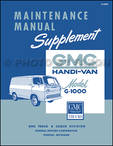 1964-1966 GMC Handi-Van G-1000 Original Repair Manual Supplement