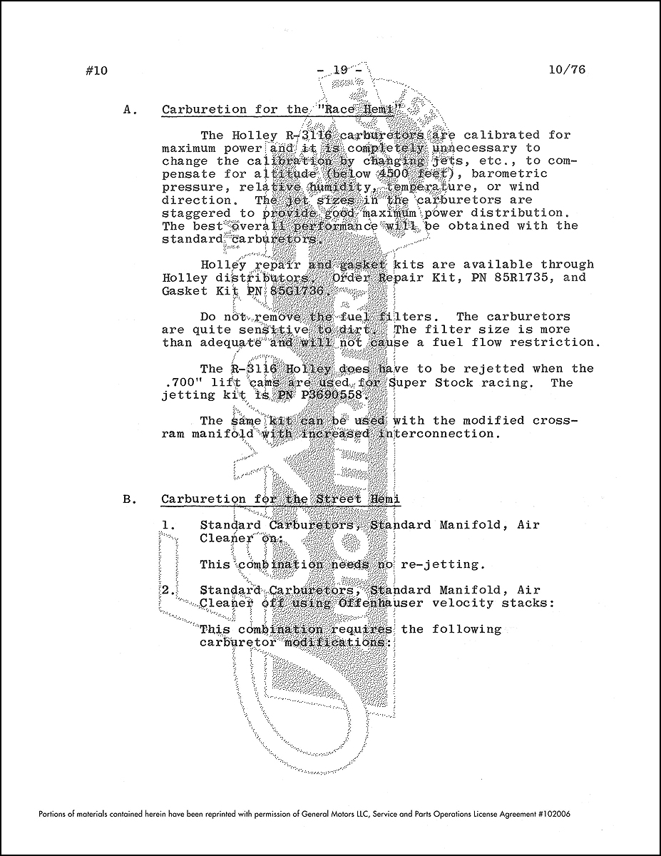 1964 1971 Direct Connection 426 Hemi Racing Manual Reprint Dodge And Distributor Wiring Diagram Sample Page