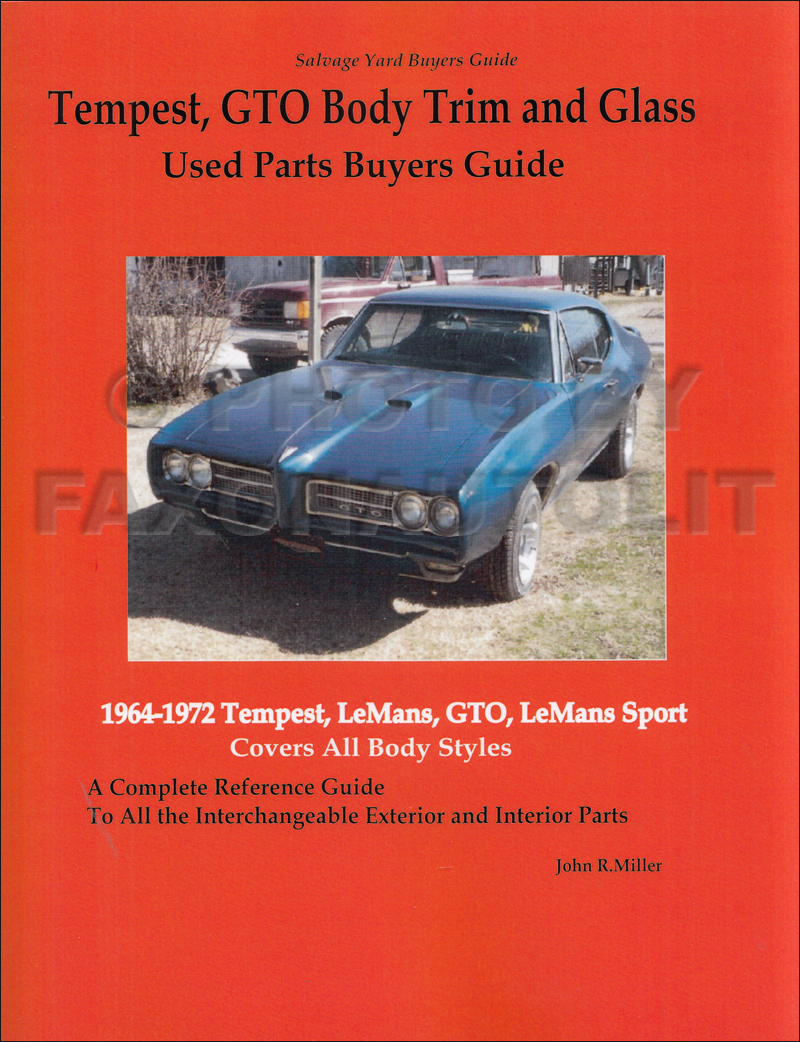 1964-1972 Tempest GTO Body Parts Interchange Book