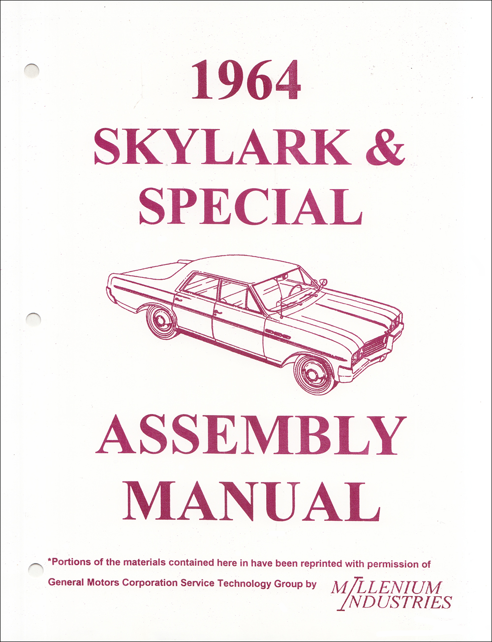 1964 Buick Factory Assembly Manual Reprint Skylark, Special, Deluxe