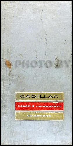1964 Cadillac Color and Upholstery Dealer Album Small Size