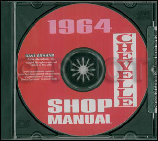1964 Chevelle CD-ROM Repair Shop Manual El Camino Chevelle Malibu SS