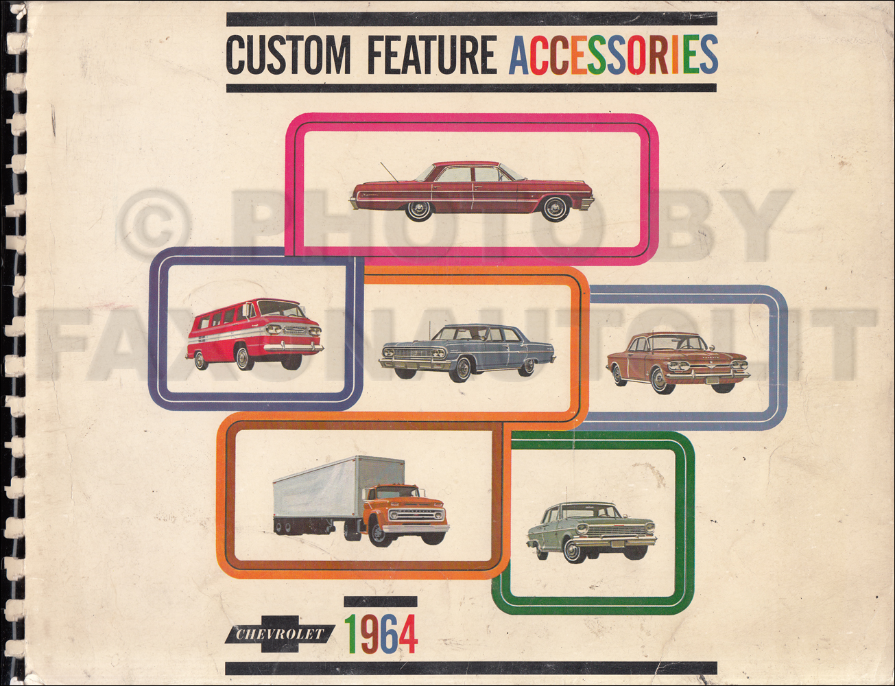 1964 Chevrolet Custom Feature Accessories Dealer Album Original