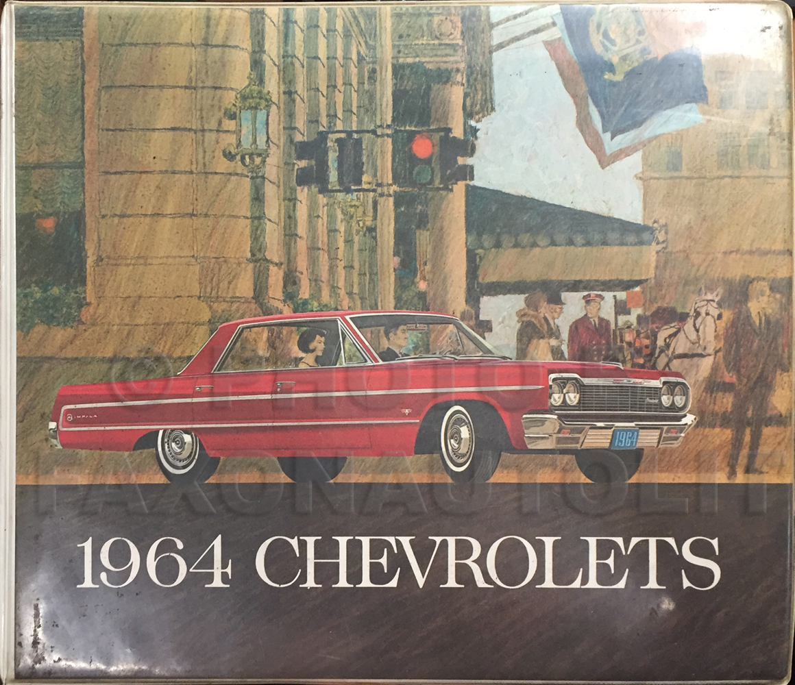1964 Chevrolet Car Color and Upholstery Dealer Album Original