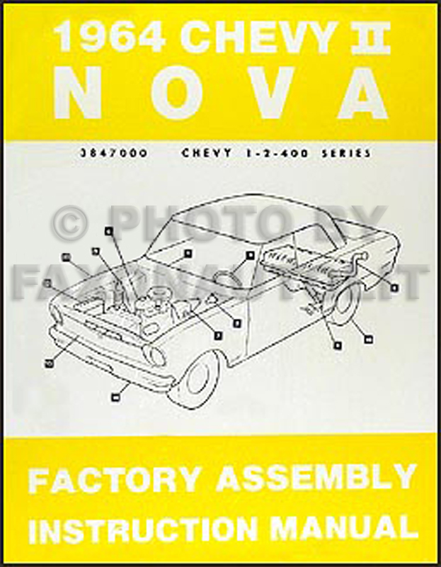1964 Chevy II & Nova Bound Assembly Manual Reprint