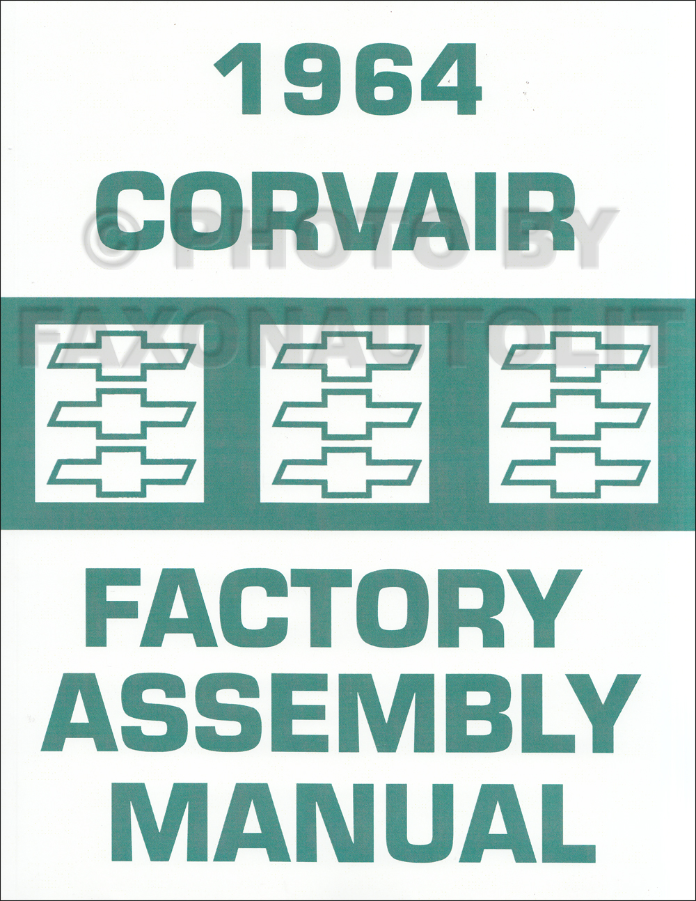 1964 Chevy Corvair and Monza Assembly Manual Reprint