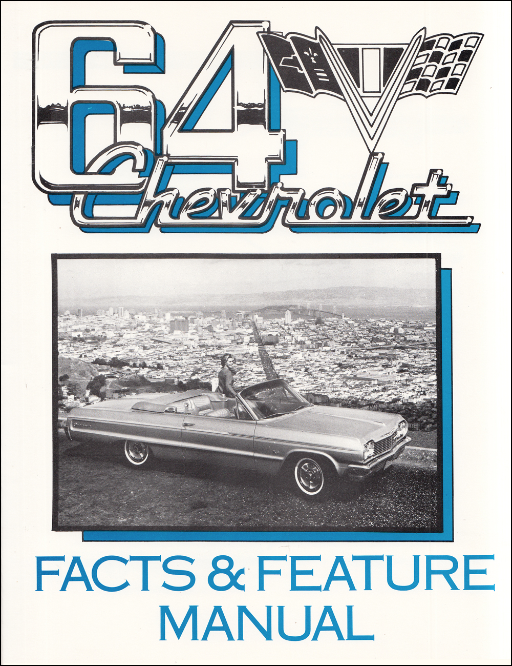 1964 Chevrolet Car Finger Tip Facts Book Reprint Bel Air Biscayne Impala