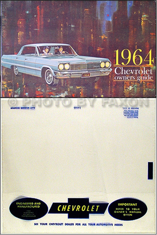 1964 Chevrolet Car Reprint Owner's Manual Package