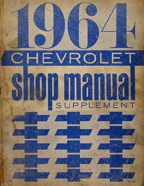 1964 Chevy Repair Shop Manual Reprint Supplement Biscayne ...