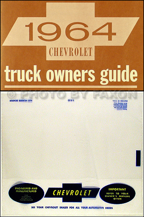 1964 Chevrolet Pickup & Truck Owner's Manual Package Reprint