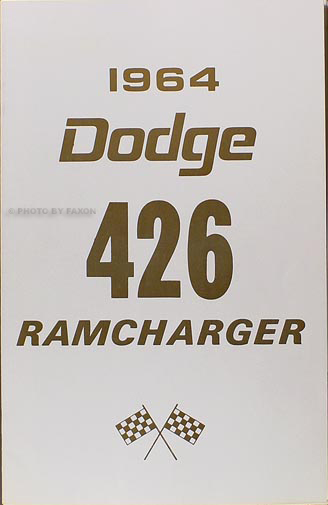 1964 Dodge 426 Ramcharger Manual Reprint SET OF 3 books 64