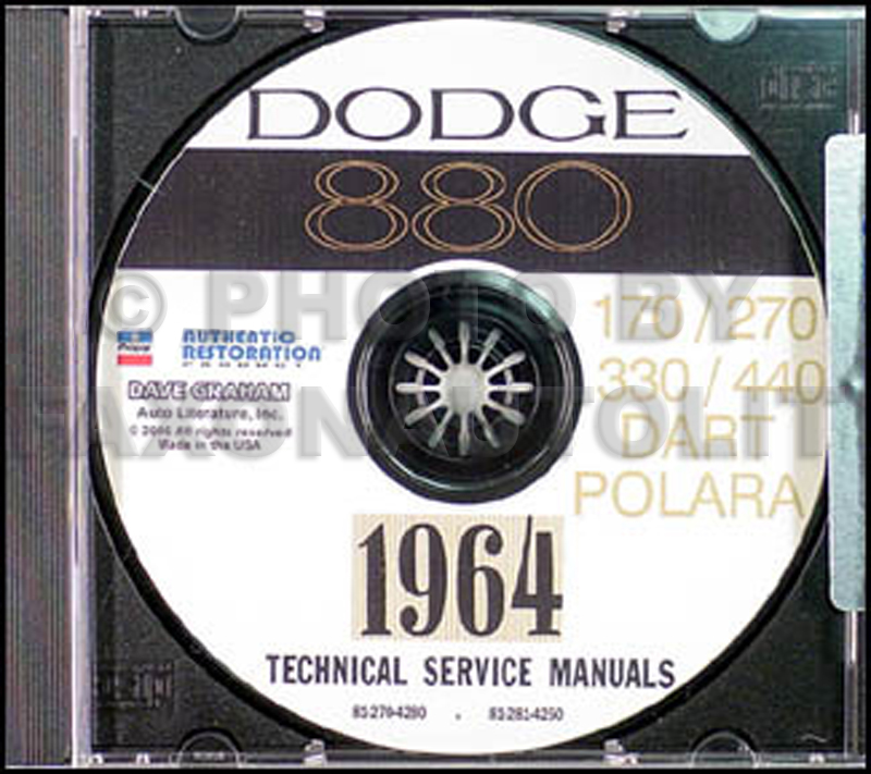 1964 Dodge CD-ROM Shop Manual for 330, 440, 880, Dart, GT, & Polara