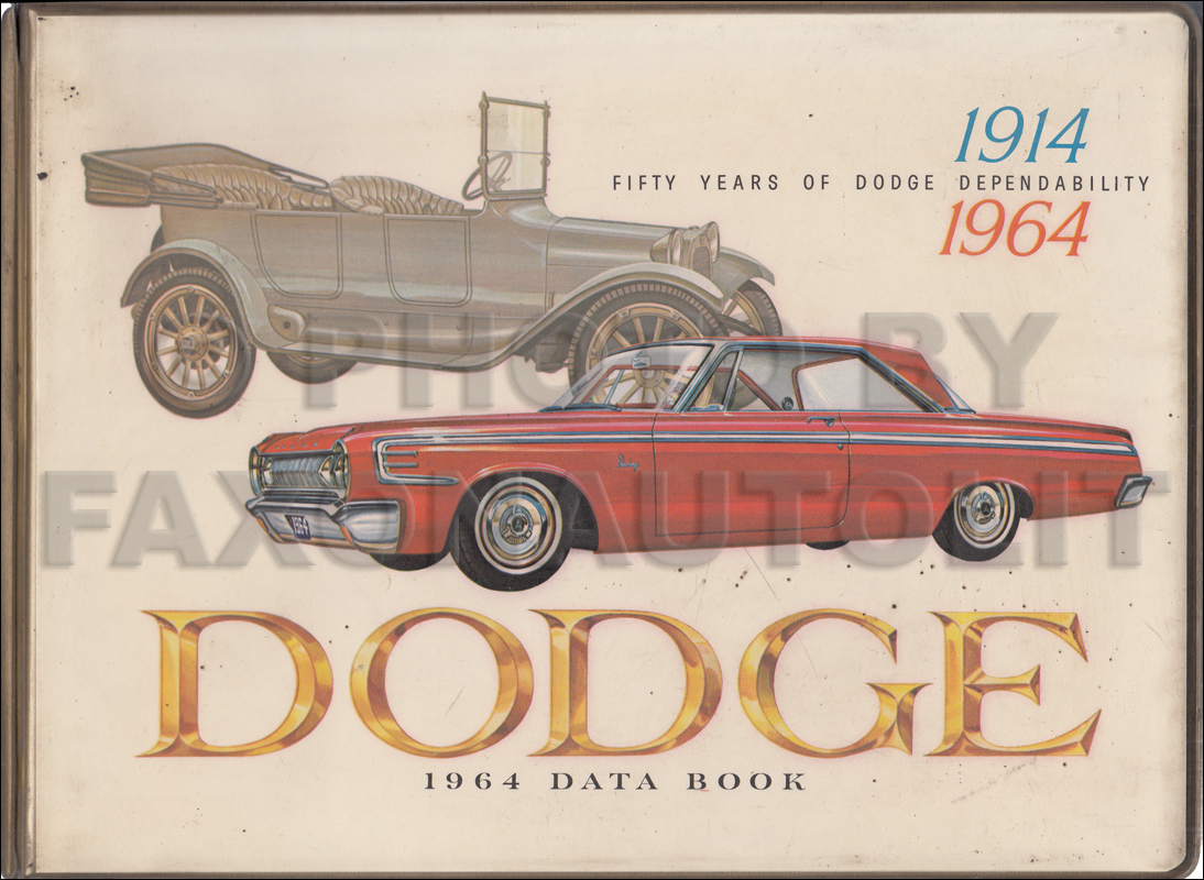 1964 Dodge Data Book with Color & Upholstery Original $395.00