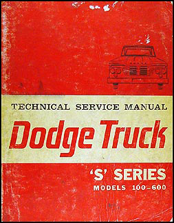 1964 Dodge 100-600 Pickup & Truck Repair Manual Original