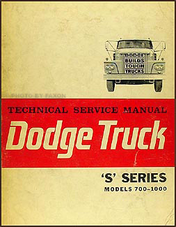 1964 Dodge 700-1000 Truck Repair Manual Original