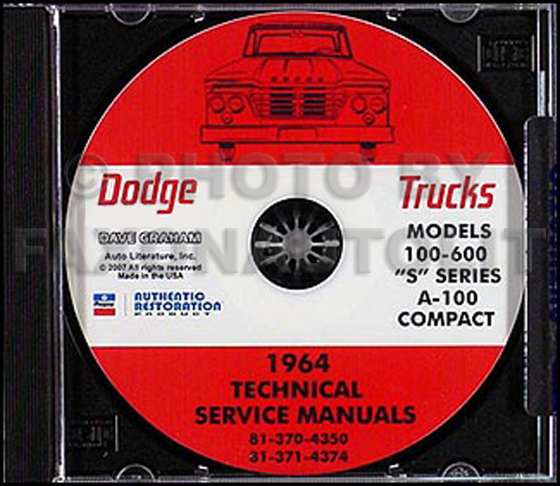 1964 Dodge Truck & 1964-1965 Van CD-ROM Shop Manual
