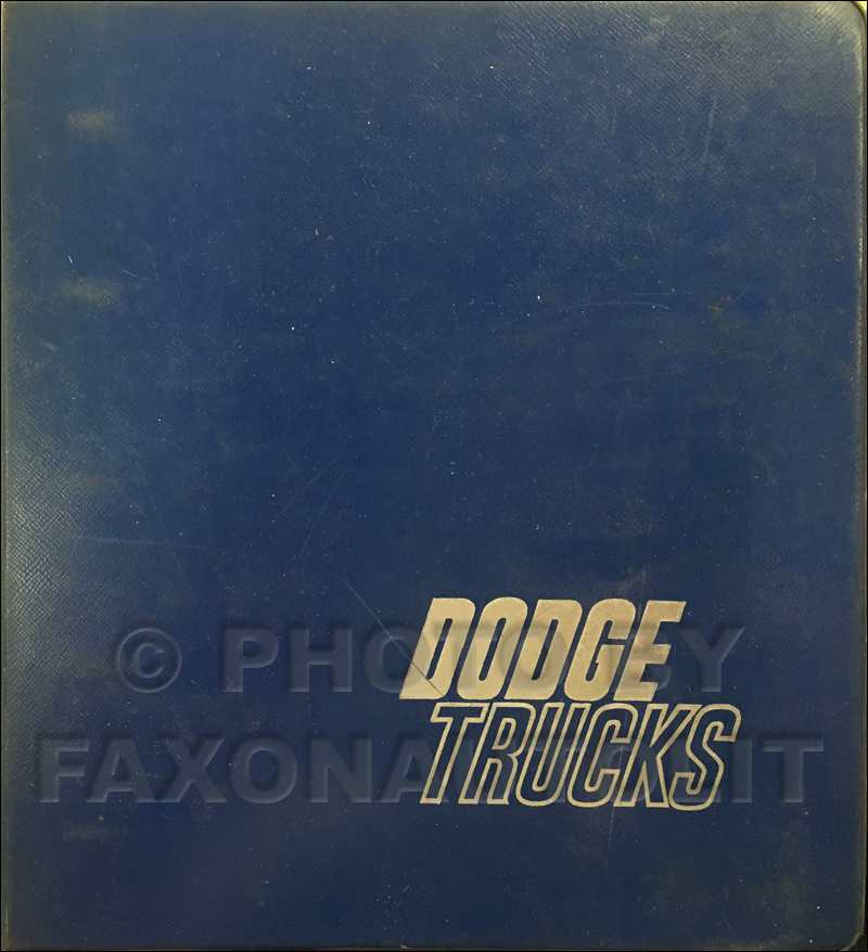1964 Dodge Truck Data Book Original