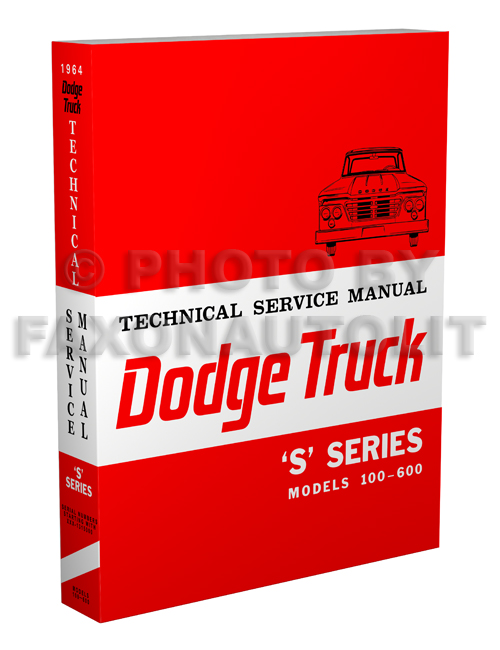 1964 Dodge 100-600 Pickup & Truck Repair Manual Reprint Set