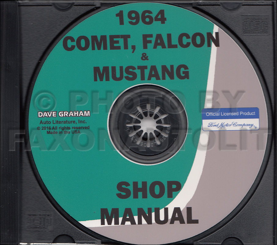 1964 Ford and Mercury Repair Shop Manual CD Falcon Mustang Comet Ranchero
