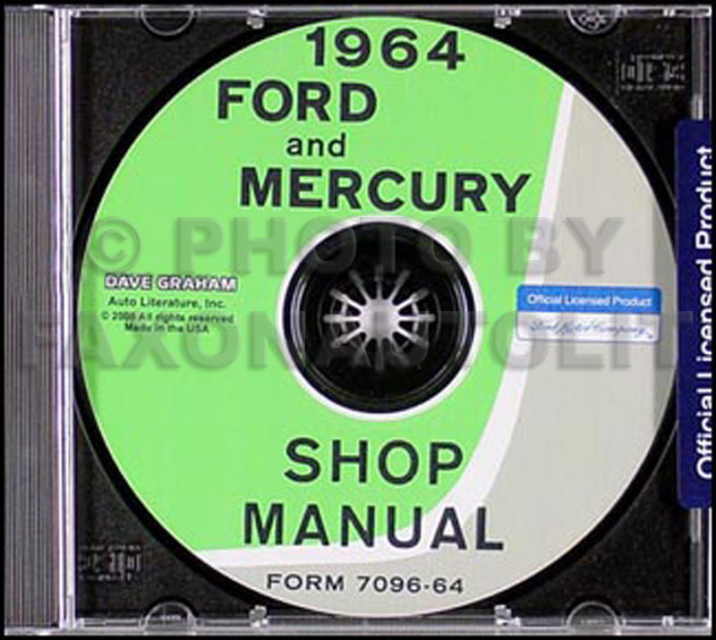 1964 Ford Galaxie & Mercury Big Car Shop Manual CD